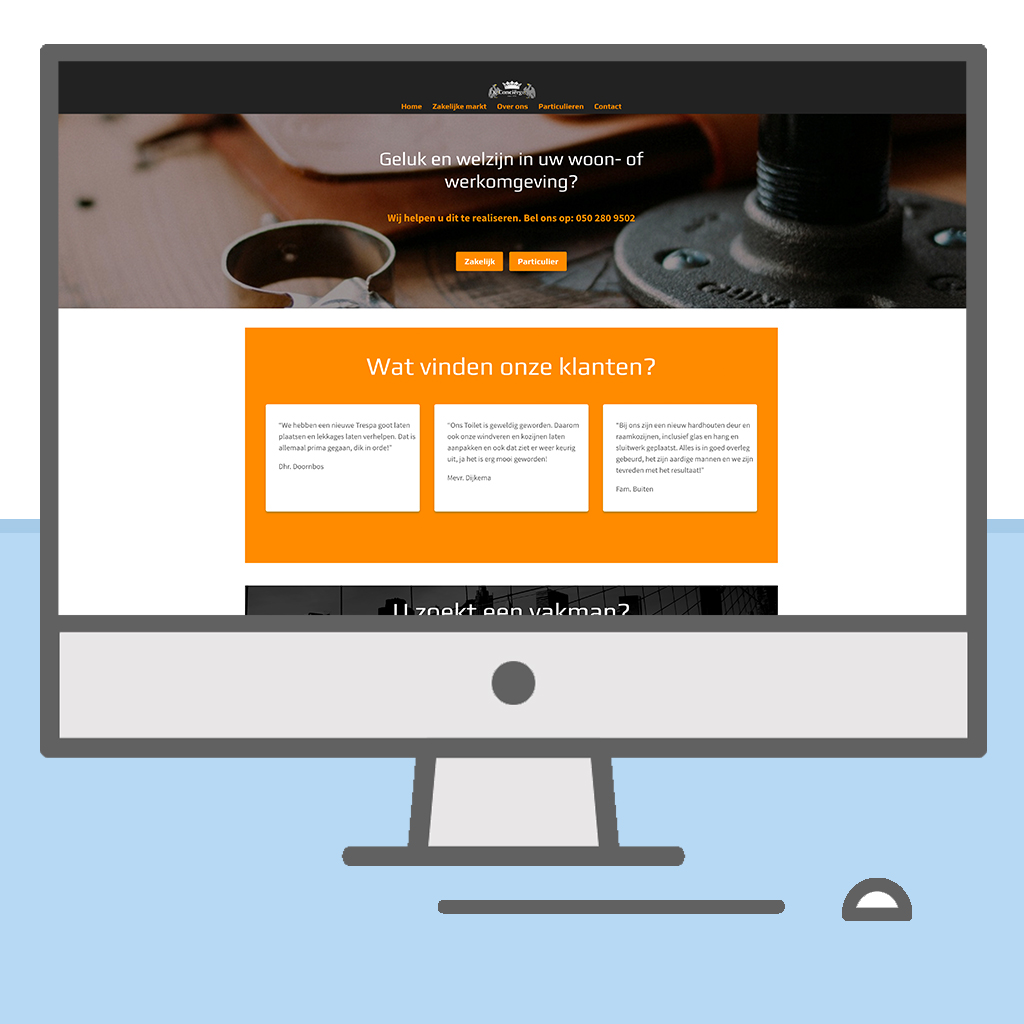Website, de concierge, mock-up, Webdesign, Knap-IT, Knap-webdesign